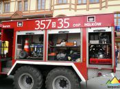 Prezentacja wozów strażackich