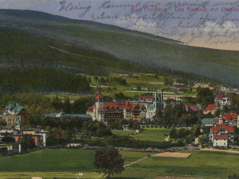 panorama na  Świeradów-Zdrój Bad Flinsberg 1919