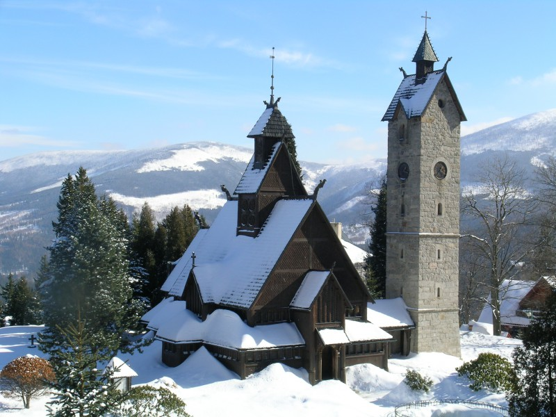 Kościół Wang zimą
