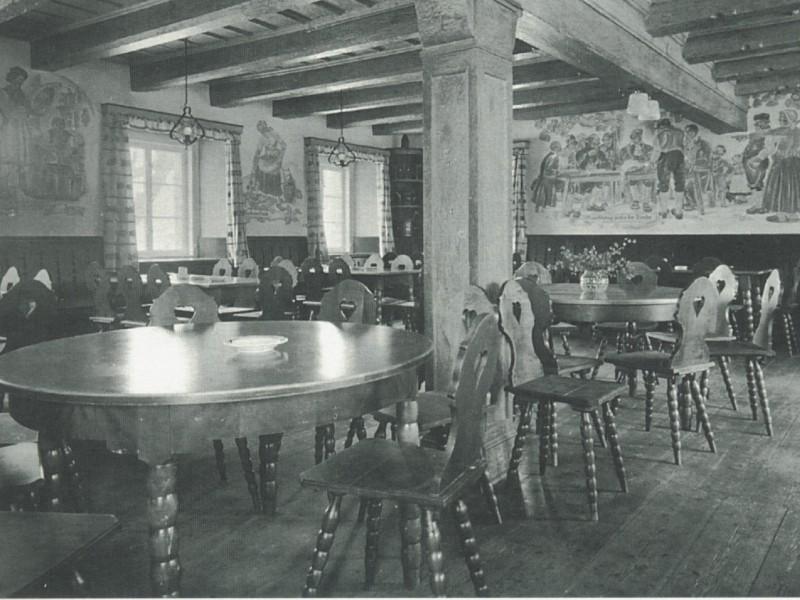 Wnętrze Karczmy Sądowej, 1934 r.