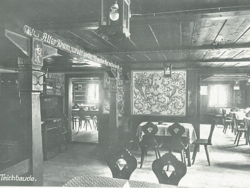 Wnętrze schroniska 1934 r.