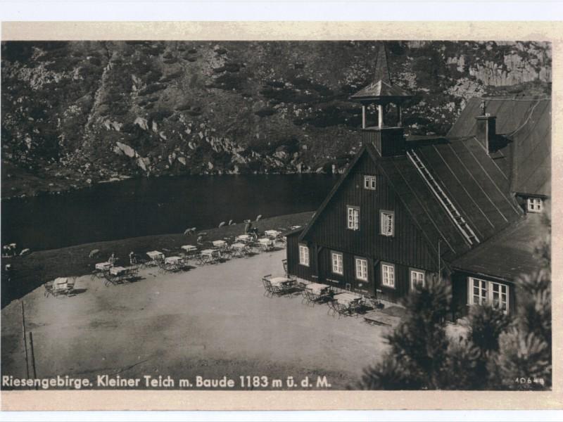 Schronisko Samotnia na dawnej pocztówce