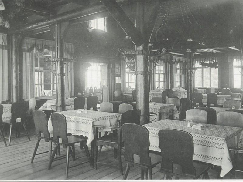 Wnętrze schroniska - 1936 r.